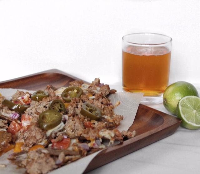 Spicy Chipotle Kale Turkey Nachos