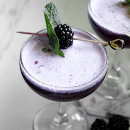 Blackberry Mint Bourbon Sour