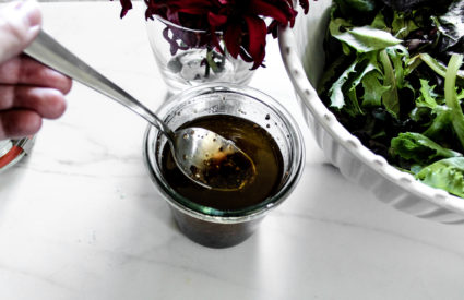 Feel good about what's going on your food: Super simple Balsamic Vinaigrette