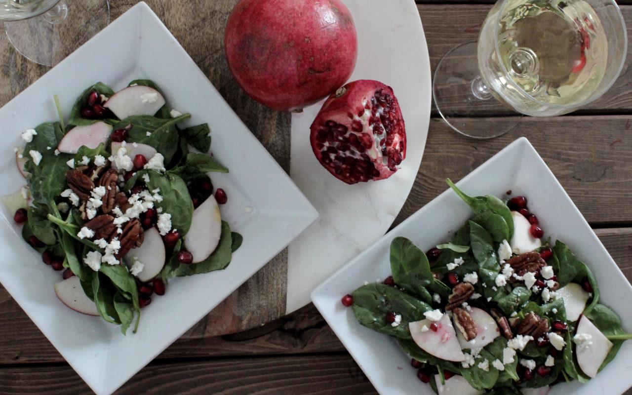 Pomegranate apple salad